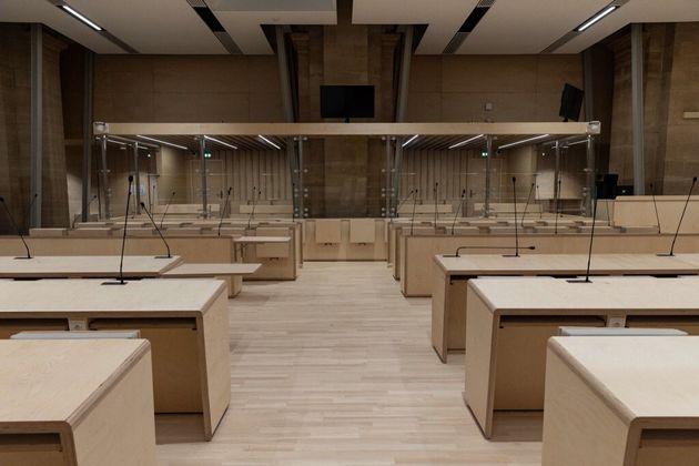 Une photo de la salle d'audience ou se déroulera le procès des attentats du