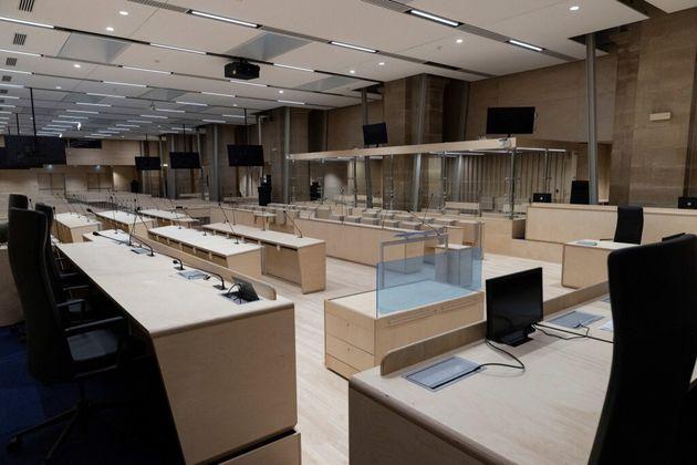 La salle d'audience où se déroulera le procès des attentats du 13