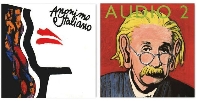 Le copertine degli album di Anonimo Italiano (1995) e degli Audio 2