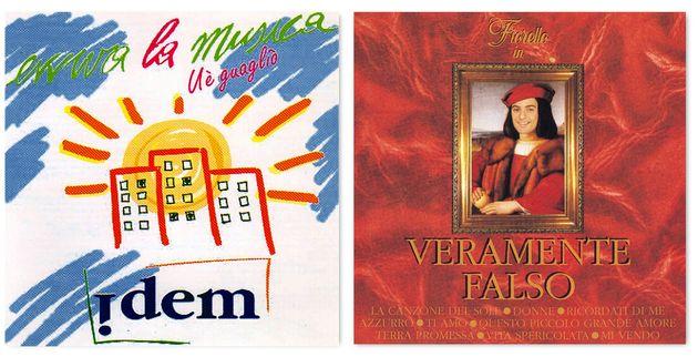 Le copertine degli album di Idem (1994) e di Rosario Fiorello