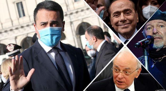 Di Maio, Silvio Berlusconi, Vasco Rossi, Piercamillo