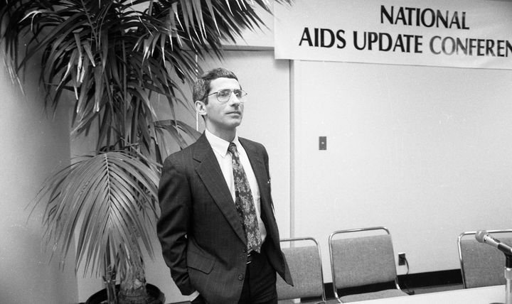 Dr. Anthony Fauci attends the National AIDS Update Conference as it meets at the San Francisco Civic Auditorium on in October