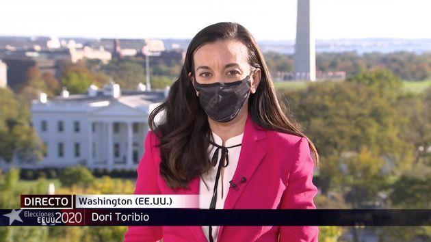 Dori Toribio, corresponsal de Telecinco en