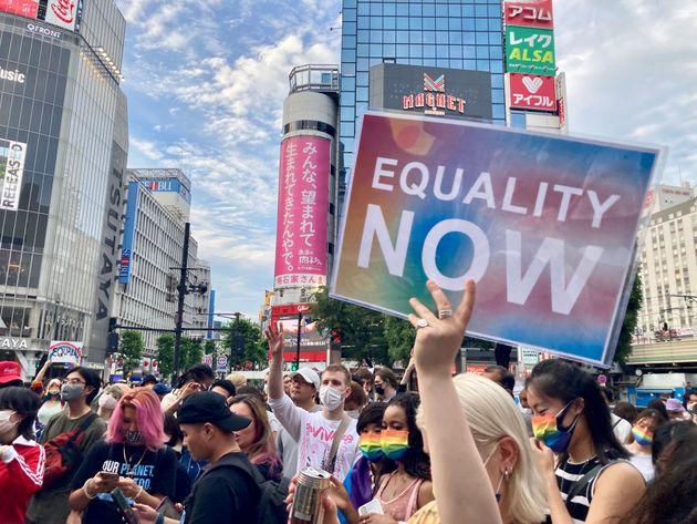 「差別にノーを言うために私たちは踊っている」LGBT新法を求める集会、渋谷で若者たちが訴えたこと