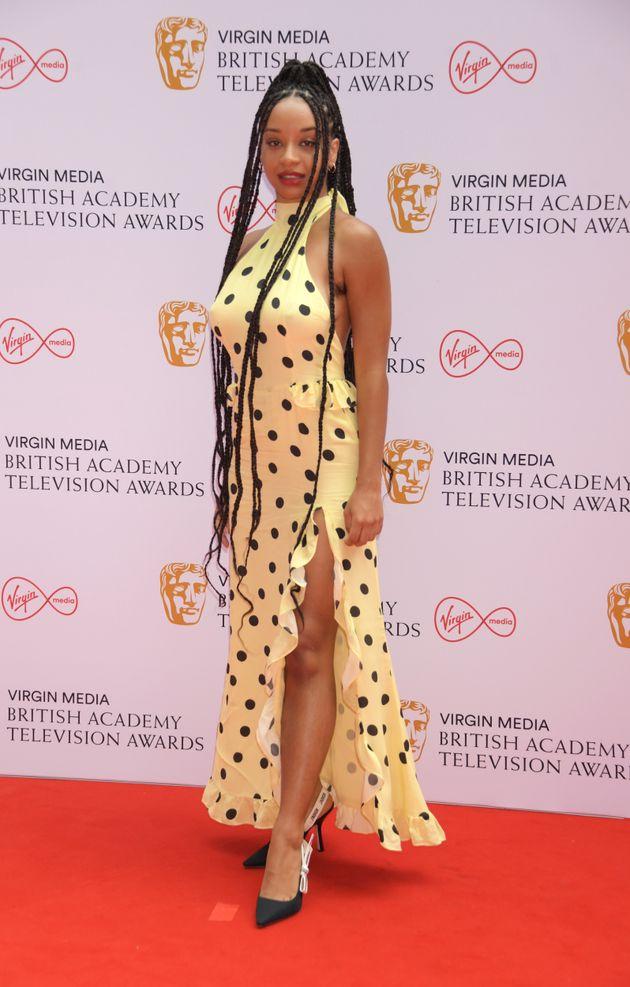 LONDON, ENGLAND - JUNE 06: Siena Kelly arrives at the Virgin Media British Academy Television Awards...