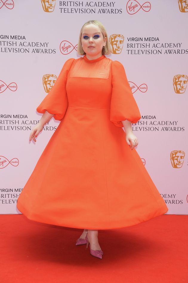 LONDON, ENGLAND - JUNE 06: Nicola Coughlan arrives at the Virgin Media British Academy Television Awards...
