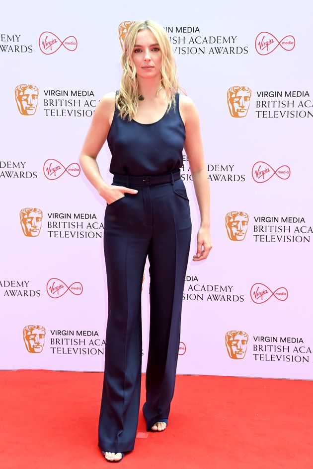 LONDON, ENGLAND - JUNE 06: Jodie Comer attends the Virgin Media British Academy Television Awards 2021...