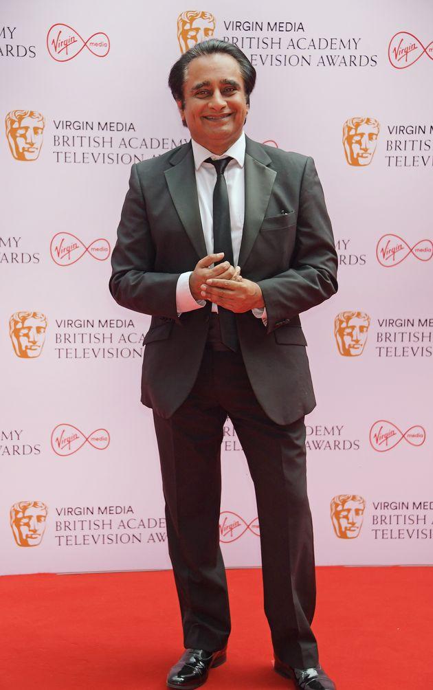 LONDON, ENGLAND - JUNE 06: Sanjeev Bhaskar arrives at the Virgin Media British Academy Television Awards...