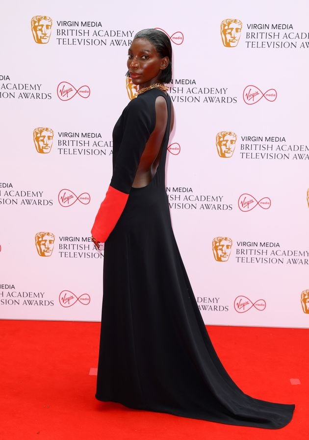 LONDON, ENGLAND - JUNE 06: Michaela Coel attends the Virgin Media British Academy Television Awards 2021...