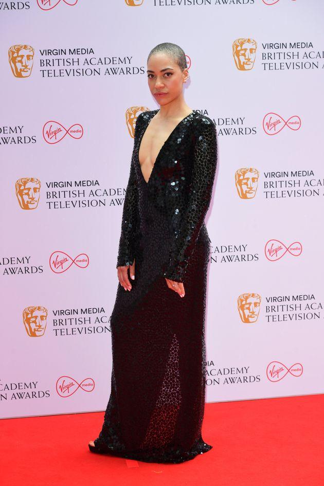 Cush Jumbo arrives for the Virgin Media BAFTA TV awards at the TV Centre, Wood Lane, London. Picture...