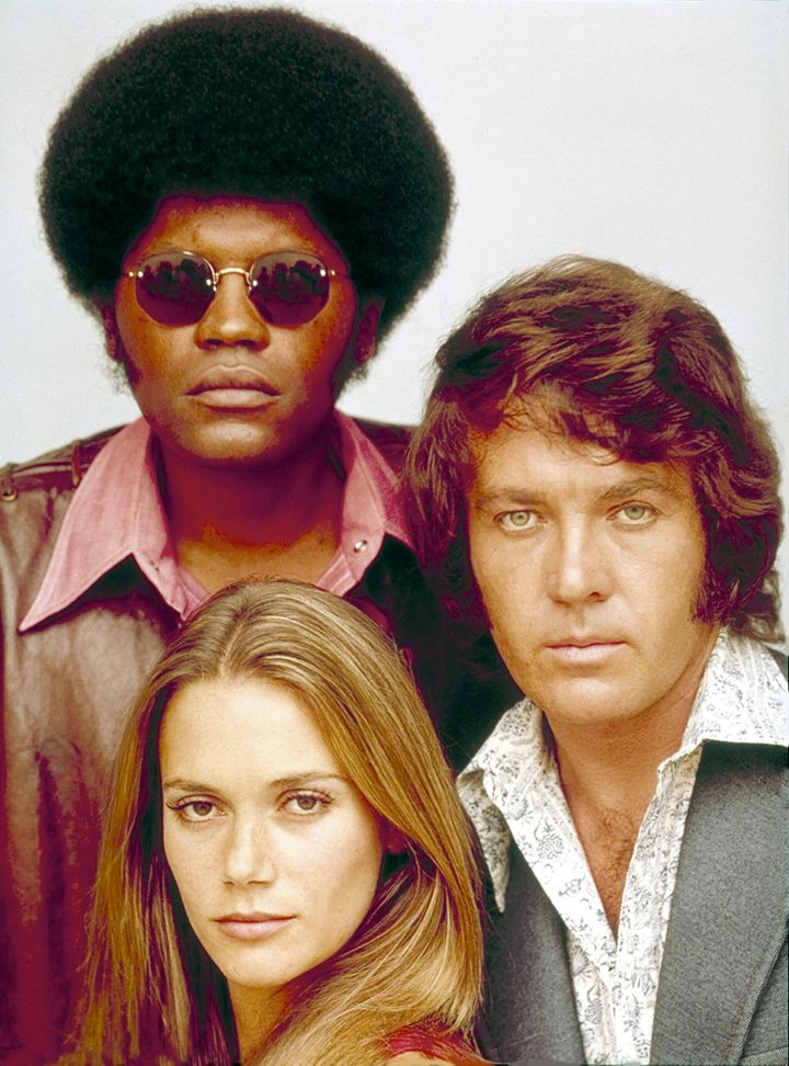 """Clarence Williams III (Linc), Peggy Lipton (Julie), Michael Cole (Pete) starred in """"The Mod Squad."""""""