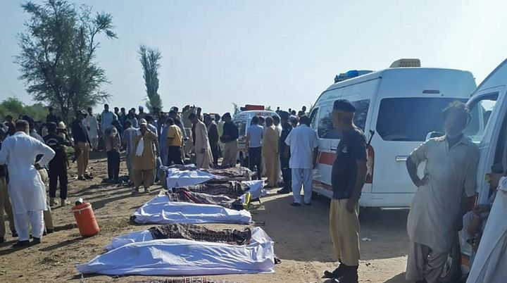Several dozen people died in a train accident in Daharki area of the northern Sindh province on June 7, 2021.