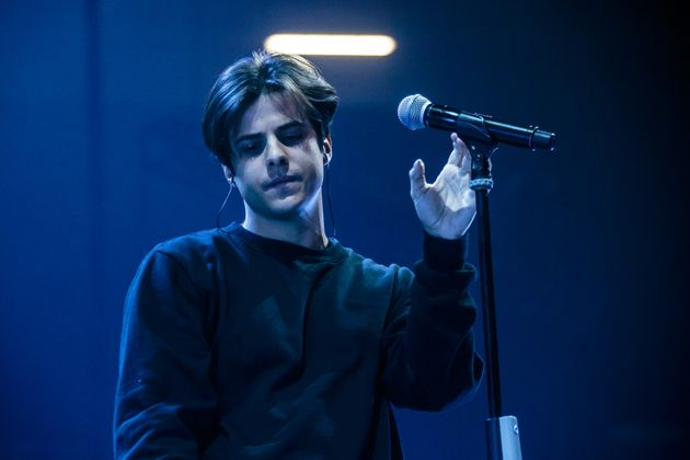 MILAN, ITALY - FEBRUARY 26: Michele Merlo opens for Emma at Mediolanum Forum on February 26, 2019 in...