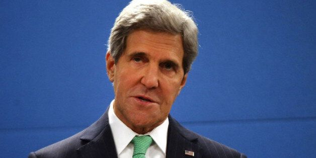 NEW YORK, NY - SEPTEMBER 25:  U.S. Secretary of State John Kerry speaks after signing the U.N. Arms Trade Treaty, which seeks