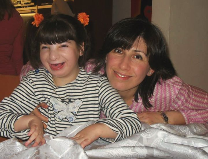 The author with her daughter Emma on her 10th birthday.