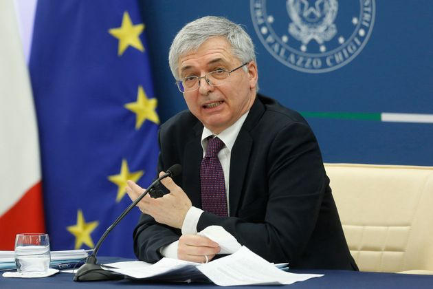 The minister of Economy Daniele Franco during the press conference after the minister's cabinet. Rome...