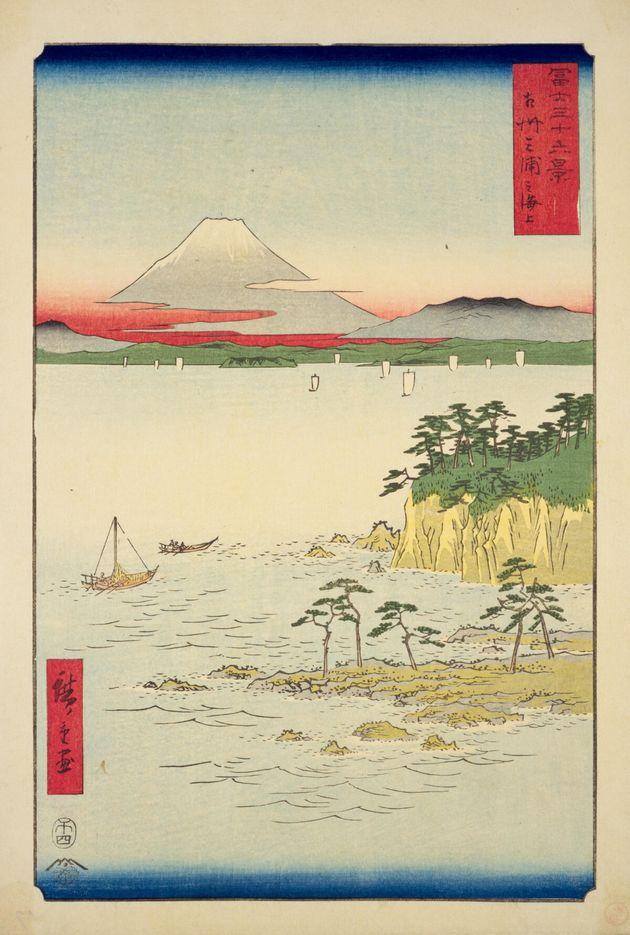 歌川広重の浮世絵「相州三浦之海上」