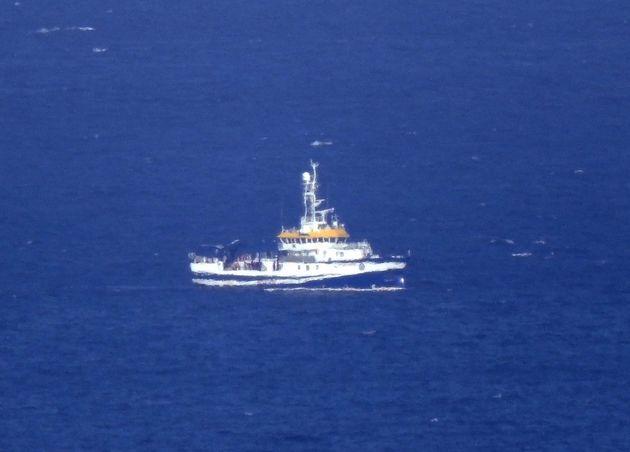 El buque oceanográfico 'Ángeles Alvariño', que realiza labores de rastreo en la costa de Santa Cruz de