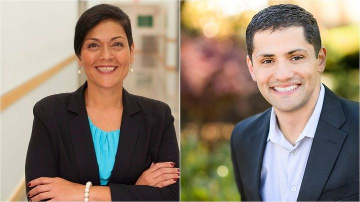 Virginia Dels. Hala Ayala, left, and Sam Rasoul are competing for the Democratic lieutenant governor nomination. Rasoul is th