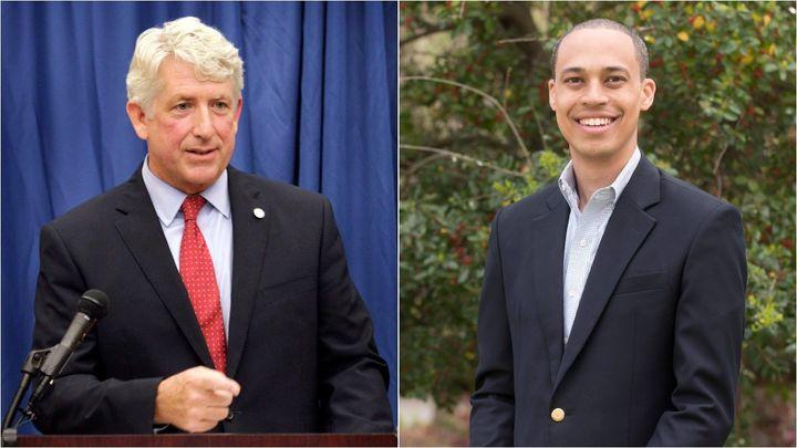Attorney General Mark Herring, left, faces a primary challenge from Del. Jay Jones. Jones is endorsed by Virginia Gov. Ralph