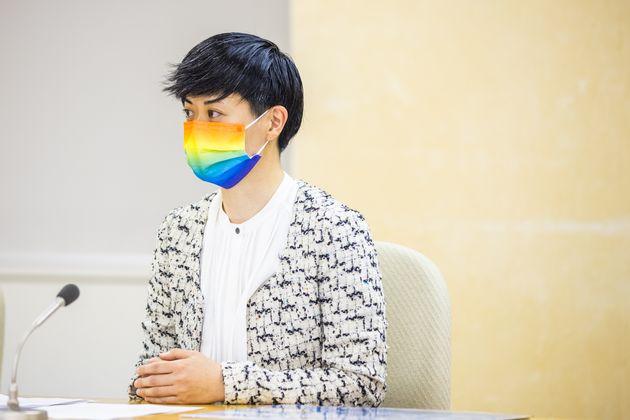 「東京都にパートナーシップ制度を求める会」代表の山本そよかさん