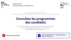 Vous pouvez consulter en ligne le programme de vos candidats aux régionales et