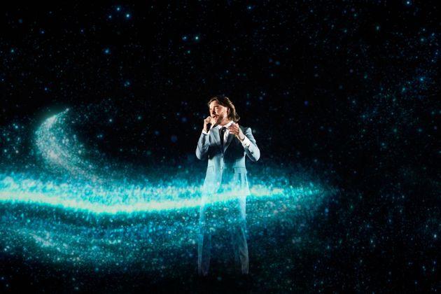 Liam Payne performs at the 2021 Bafta film