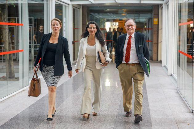 Los diputados de Vox en la Asamblea de Madrid Ana María Cuarteto, Rocío Monasterio y Mariano