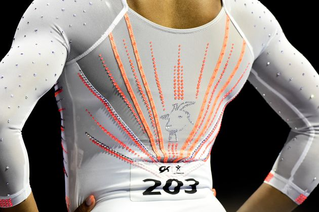 The goat emblem has become a mainstay of Simone Biles' competition leotards.