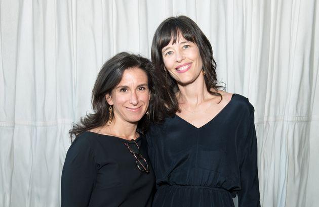 Les journalistes Jodi Kantor et Megan Twohey lors du dîner pour le