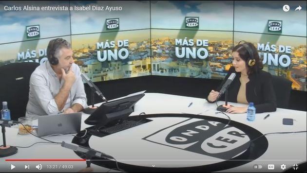 Alsina y Díaz Ayuso, en una entrevista