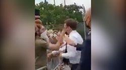 Emmanuel Macron giflé au cours de son déplacement dans la