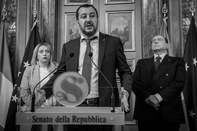 19/04/2018 Roma, secondo giorno di consultazioni della Presidente incaricata, la delegazione del centrodestra...