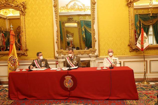 El Rey preside el acto extraordinario de la Real y Militar Orden de San Fernando en el Palacio Real de