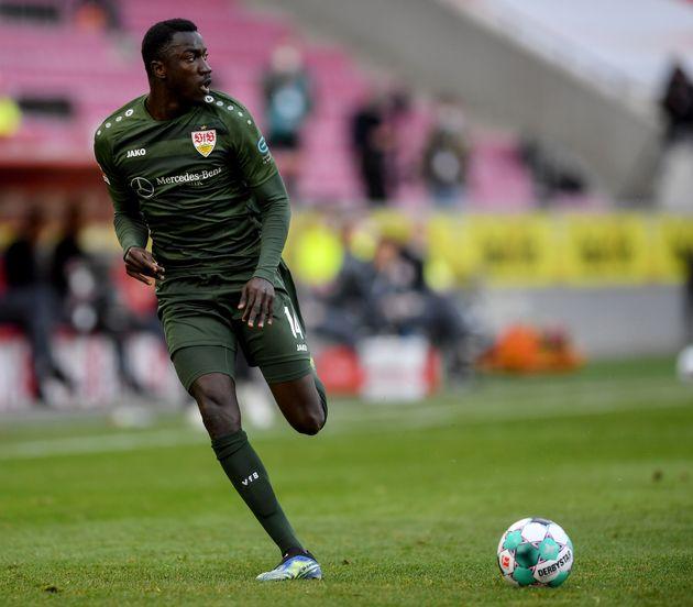 Le joueur Silas Wamangituka du club VfB Stuttgart lors d'un match qui l'opposait au au FC Koeln, le 20...