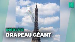 Pourquoi un drapeau géant a été accroché à la tour