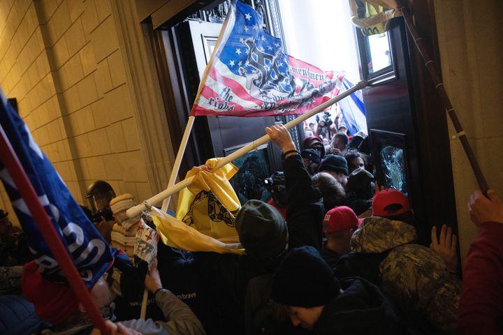 A pro-Trump mob breaks into the U.S. Capitol on Jan. 6 in Washington, D.C.