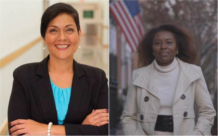 Virginia Del. Hala Ayala, a Democrat, left, is due to take on Republican businesswoman Winsome Sears in the race for lieutena