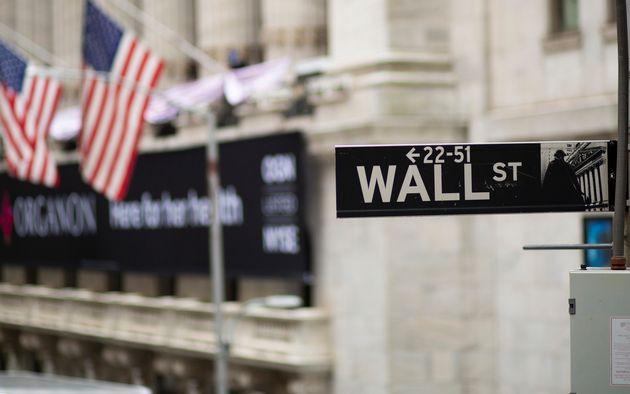 Fachada del edificio de la Bolsa estadounidense, en Wall