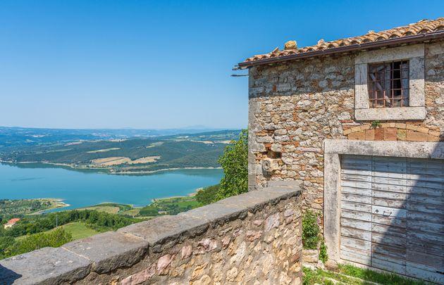 Civitella del Lago, beautiful village overlooking Lake Corbara, in the Province of Terni, Umbria,