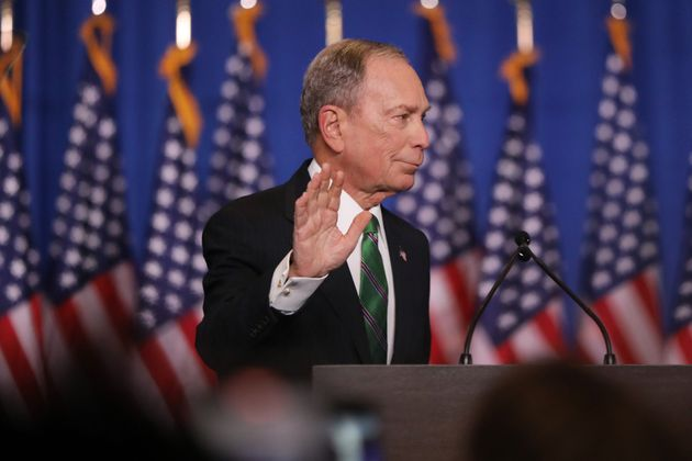 Michael Bloomberg, tras anunciar que se retiraba de las primarias