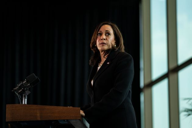MEXICO CITY, MEXICO - JUNE 08: Vice President Kamala Harris speaks during a news conference at the on...