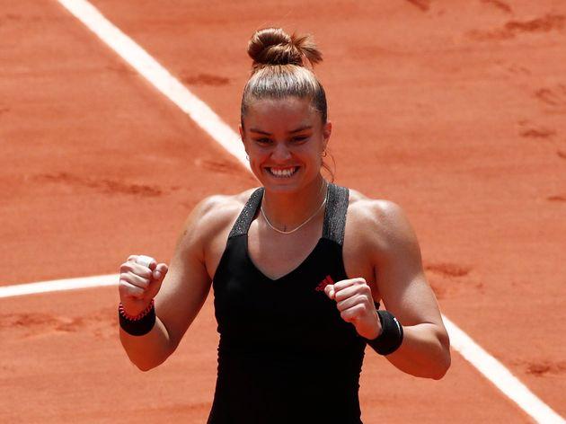 9 Ιουνίου 2021. Η Μαρία Σάκκαρη προκρίνεται στον ημιτελικό του Ρολάν Γκαρός αποκλείοντας την Ίγκα Σβιάτεκ από την Πολωνία. REUTERS/Benoit Tessier