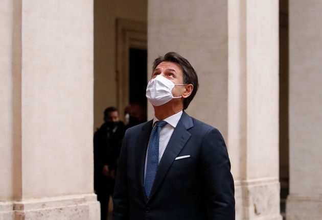 Palazzo Chigi: Former Prime Minister Giuseppe Conte leaves Palazzo Chigi. Rome (Italy), February 13th,...