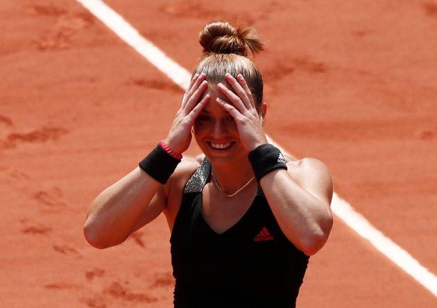 9 Ιουνίου 2021. Η Μαρία Σάκκαρη προκρίνεται στον ημιτελικό του Ρολάν Γκαρός αποκλείοντας την Ίγκα Σβιάτεκ από την Πολωνία. Swiatek REUTERS/Benoit Tessier