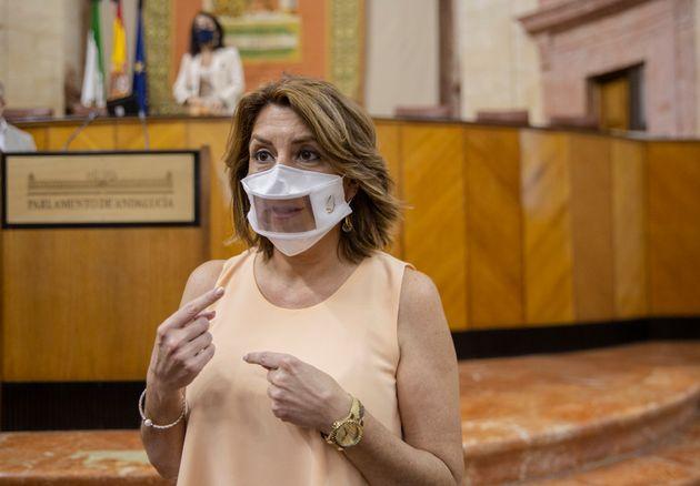 Susana Díaz, en el Parlamento