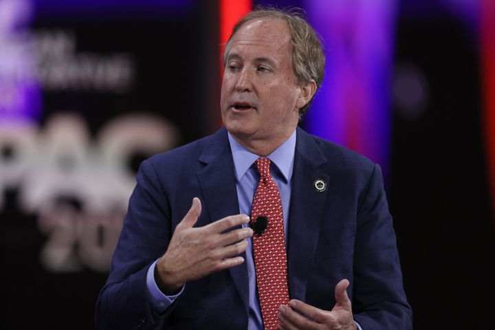Ken Paxton, Texas Attorney General, speaks during a panel discussion about the Devaluing of American Citizenship during the Conservative Political Action Conference held in the Hyatt Regency on February 27, 2021 in Orlando, Florida.