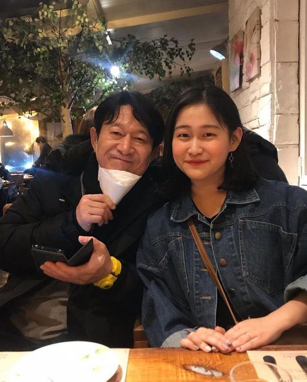 김응수와 첫째 딸