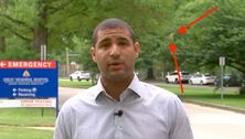 Reporter Flawlessly Recovers After Cicada Dive-Bombs Him On Live TV