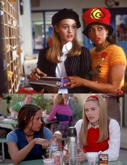 1995년 개봉한 미국 하이틴영화 클루리스 - 세어 호로위츠(알리시아 실버스톤)와 절친한 친구 다이온(스테이시